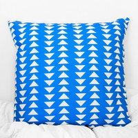 Triangle Printed Pillow Case - Cobalt