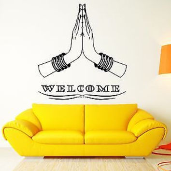 Welcome Cool Home Sweet Home Decor India Indian Hinduism For Living Room (z2573)
