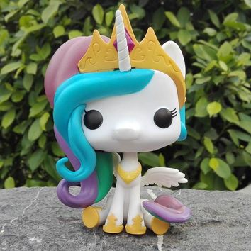 10cm New Funko Pop! My Little Pony Vinly Figure Princess Celestia
