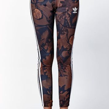 adidas Leaf Camo Leggings - Womens Pants - Multi