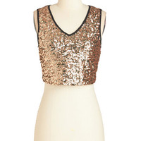 ModCloth Short Length Sleeveless Cropped Reliably Radiant Top