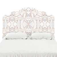 White Stone Headboard Decal
