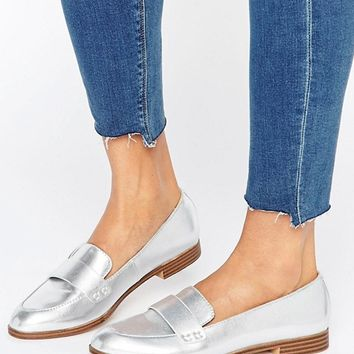 Pull&Bear Metallic Loafer at asos.com