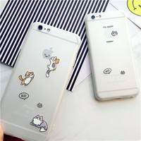 Cute cat mobile phone case for iphone 6 6s 6plus 6s plus + Nice gift box!