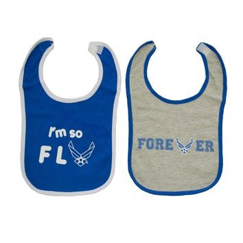 Air Force 2pk Cotton Bib Set