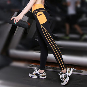 Push Up Spandex Yoga Pants With Side Pocket