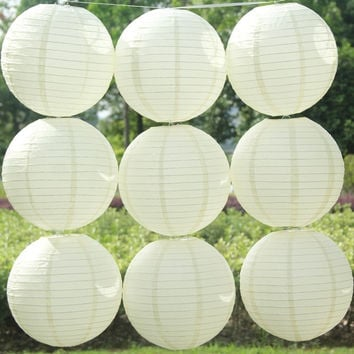 (20pcs/Lot) 8''(20cm) Round Chinese Lantern White Paper Lanterns For Wedding Party Decorations = 1932857732
