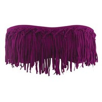 L*Space Dolly Knotted Fringe Bandeau in Berry