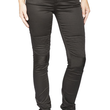 Girls Moto cross strech twill jegging - Black