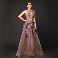 robe de soiree Designer Dubai Saudi Arabia Sexy Organza Butterfly Elegant Long Evening Dresses Prom Party Dresses Evening Gowns