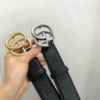 GUCCI New fashion more letter women and men high quality belt two color