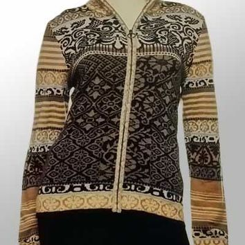 Icelandic Pattern Cardigan Sweater - Chloe (Medium)