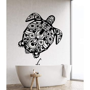 Vinyl Wall Decal Sea Animal Turtle Ocean Marine Style Shell Stickers Unique Gift (2037ig)