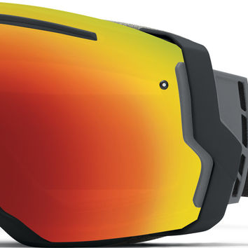 Smith I/O7 Goggles - Black/Red Sol-X+Blue Sensor Lens