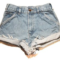 Dickies denim high waist shorts from Vintage Love