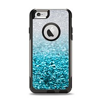 The Turquoise & Silver Glimmer Fade Apple iPhone 6 Otterbox Commuter Case Skin Set