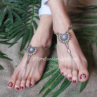 Comfortable Bahama Barefoot Sandals Shoes for Vacation Womens Beach Anklet Island Summer Foot Jewelry Caribbean Sandles Flip Flops Thongs