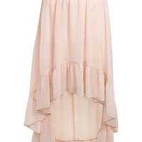 Nude Tiered Hem Skirt - View All  - Sale & Offers