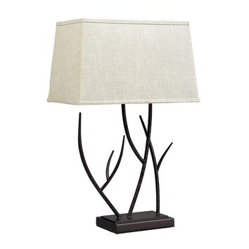 D2209 Winter Harbour Hammered Iron Table Lamp In Bronze - Free Shipping!