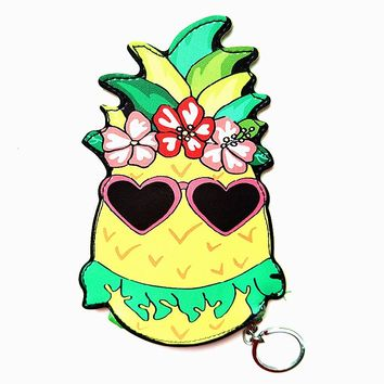 Cool Pineapple Keyring Coin Purse