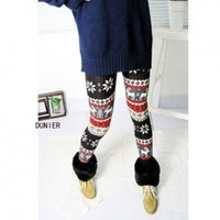 Sweet Deer and Snowflake Patterns Nine-Point Leggings China Wholesale - Sammydress.com