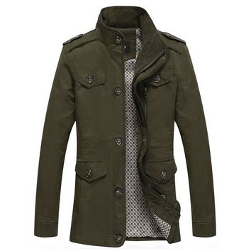 The Lancaster Short Trench Olive