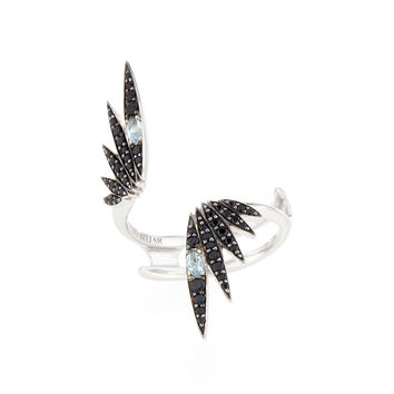Midnight Quartz & Black Spinel Starburst Ring - Alexis Bittar Fine