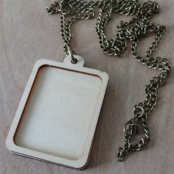 Mini Embroidery Hoop Pendant Kit: Rectangle