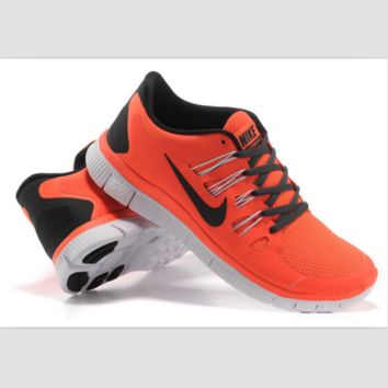 NIKE running breathable casual shock Damping running shoes Orange black