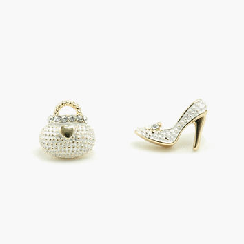 Purse & Stiletto Earrings