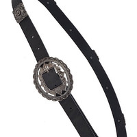 Concho Buckle Belt (Black)