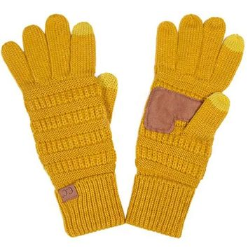 Mustard CC Smart Touch Gloves