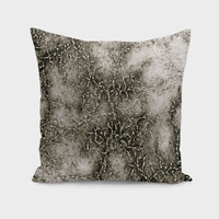 «Gray Marble Pattern Black And Silver Vined», Numbered Edition Throw Pillow by GittaG74 - From $27 - Curioos