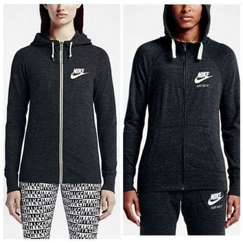 VXL8HQ NIKE' Autumn Leisure Women Hooded Zipper Sweatshirt Sweater Jacket