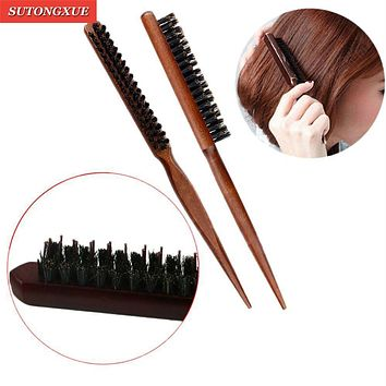 1 PC Pro Professional Salon Teasing Styling Wood Hair Brushes