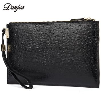 Men Hand Bag Genuine Leather Clutch Bag Male Luxury Long Men Phone Bag Daily Zipper Business Bag Man Embossed Wallet