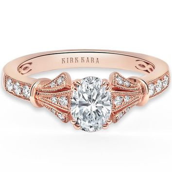 "Kirk Kara ""Lori"" Oval Cut Diamond Engagement Ring"