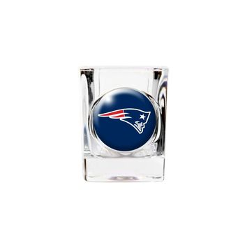 New England Patriots 2oz Square Shot Glass - Etching Personalized Gift Item