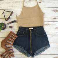 Love On Top Zippered Shorts