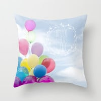 hello there life Throw Pillow by Sylvia Cook Photography