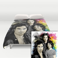 Inspired by Damon Salvatore and the Vampire Diaries Duvet Cover by Purshue Feat Sci Fi Dude