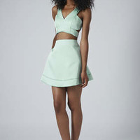 LIMITED EDITION SATIN BRALET AND A-LINE SKIRT