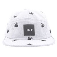 Huf, Embroidered Plantlife Volley Hat - Black Oxford - Men's Wear - MOOSE Limited