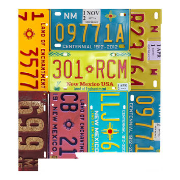 New Mexico License Plate wall decal