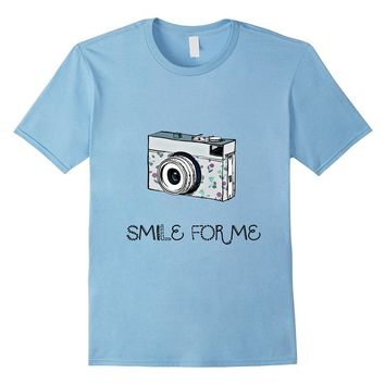 SMILE FOR ME girl's TSHIRT camera photography happy