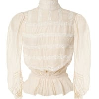 Ivory Cotton Voile Victorian Blouse by Marc Jacobs for Preorder on Moda Operandi