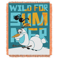 Disney's Frozen Wild for Summer  Triple Woven Jacquard Throw (48x60)