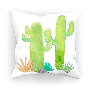 Watercolor Cactus Pillow