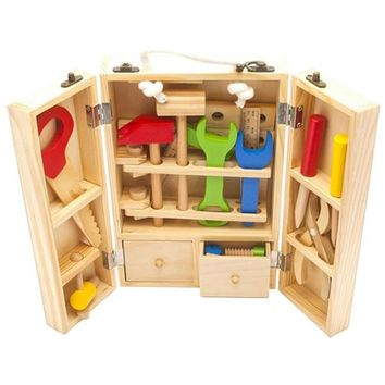Free Shipping - Kids Wooden Multi functional Maintenance Box Wooden Tool