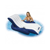 Floating Recliner Lounge Float Swim Pool Inflatable Water Raft Chair Beach Cup
